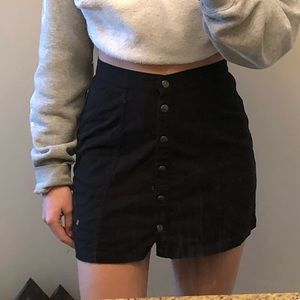 Black Button Up Skirt From Boathouse